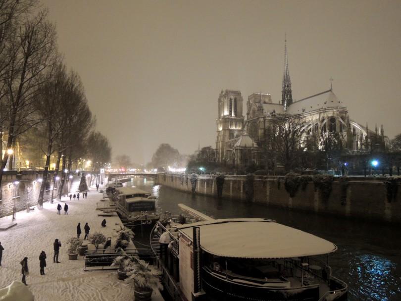 Paris Winter Scene