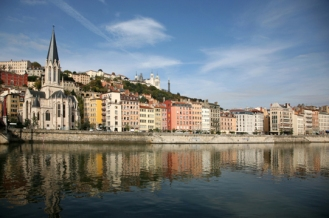 Lyon and Saone River