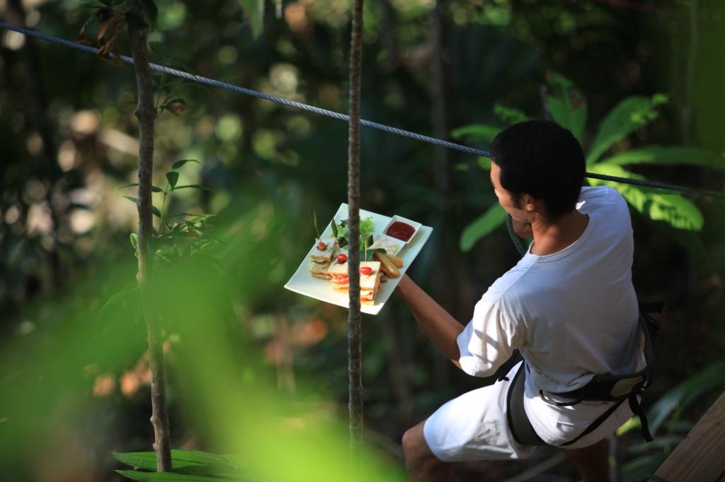 Host at Tree Pod Dining in Thailand