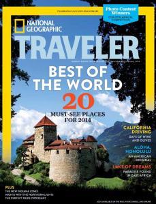 Traveler magazine Dec. 2013  cover