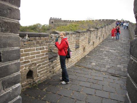 Erin Sorensen at Great Wall