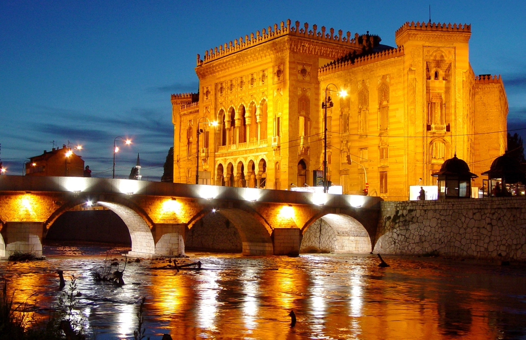Vjecnica bridge in Sarajevo