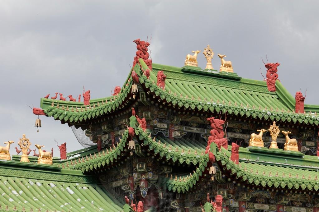 Winter palace detail at Ulaan Bator