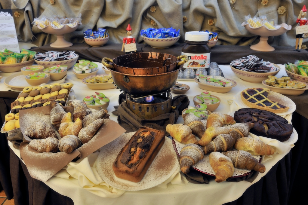 Etruscan Chocohotel breakfast