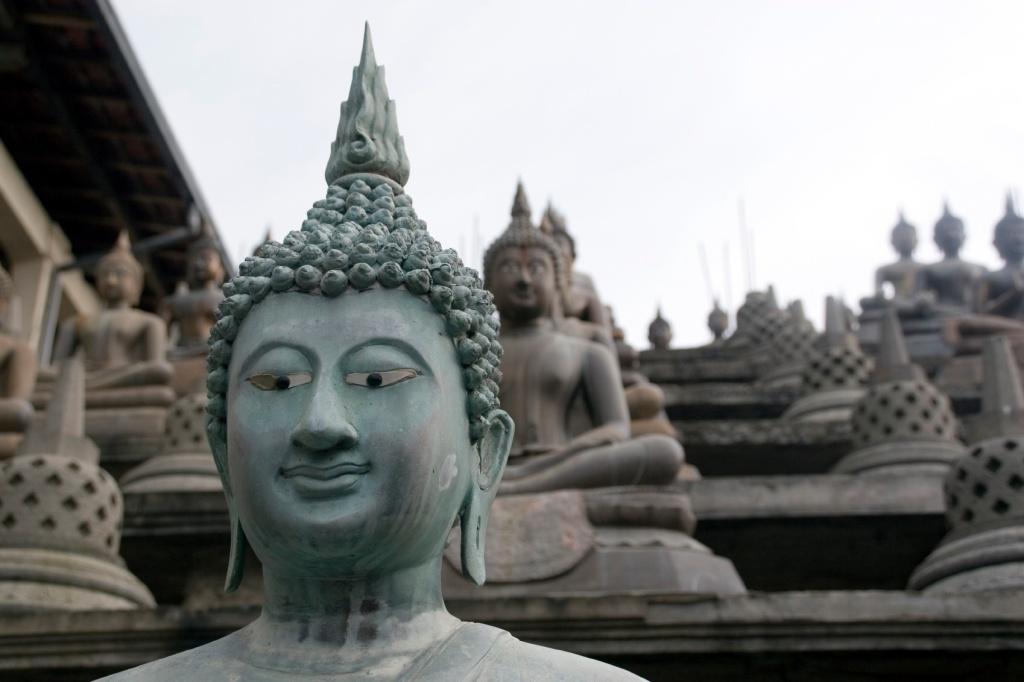Monastery Buddha in Sri Lanka