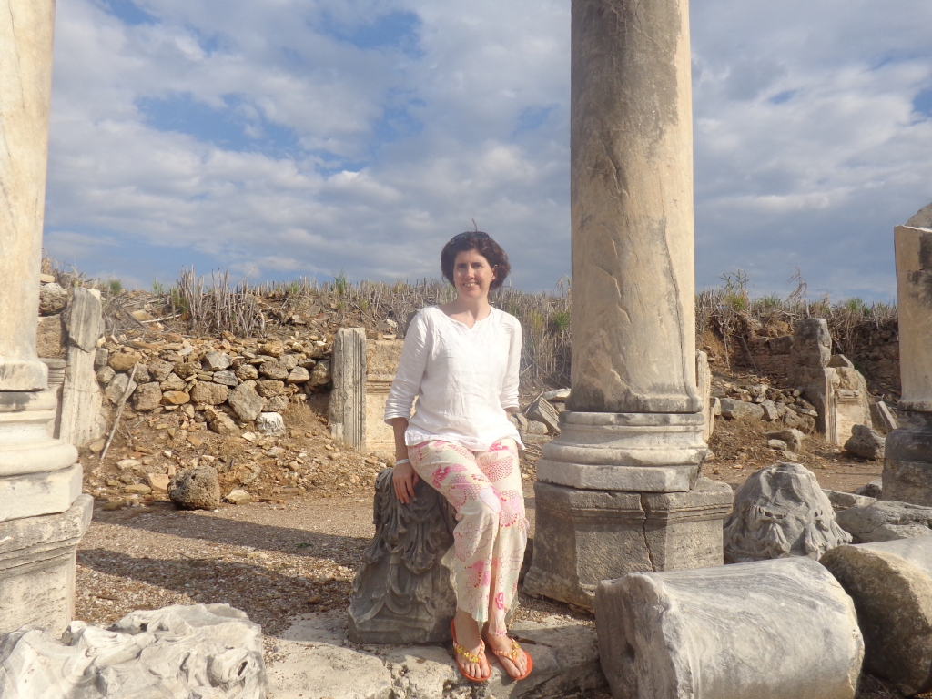 Sara Welch in Perge, Turkey