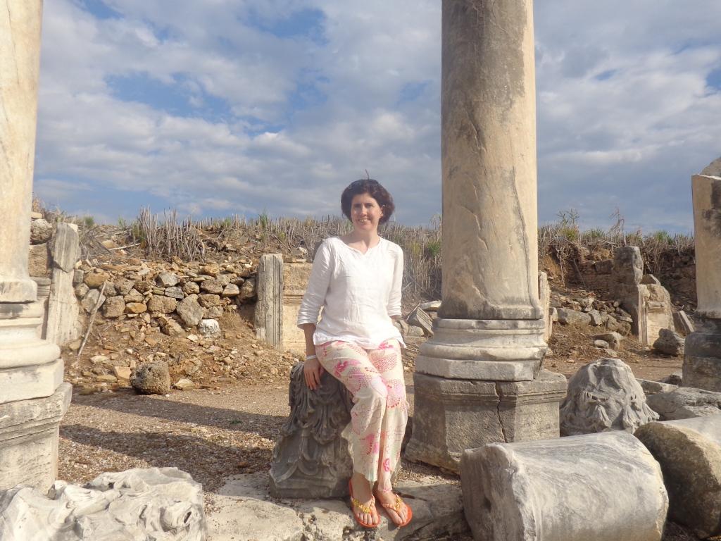 Sara Welch in Perge, Turkey