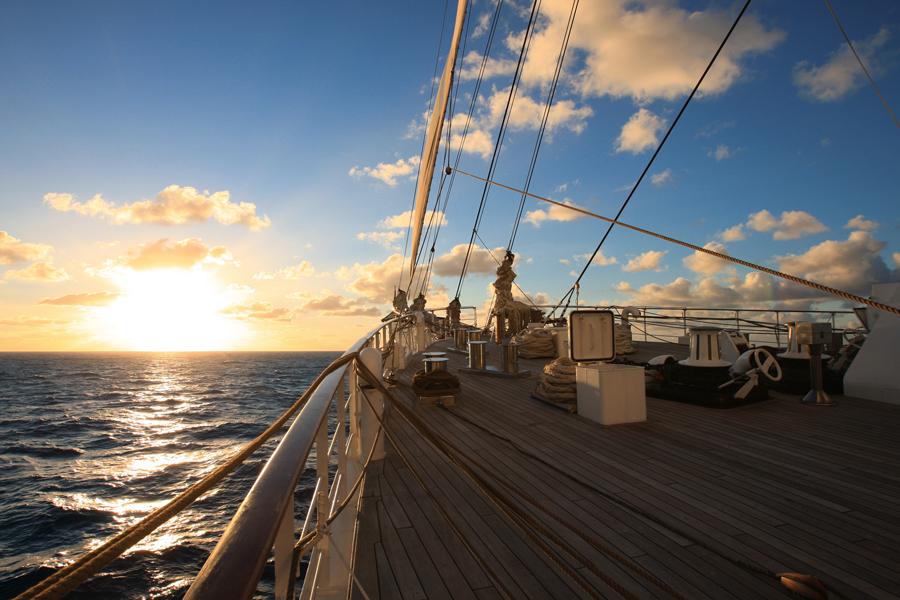 Sea Cloud II On Deck