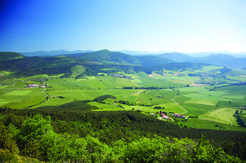 green valley next to pamplona