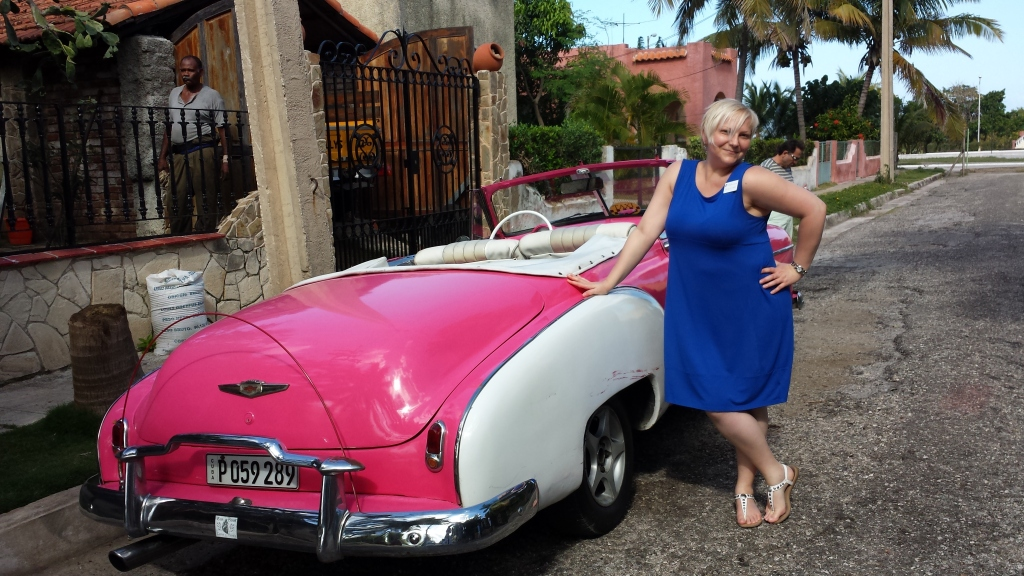 Danielle with vintage car