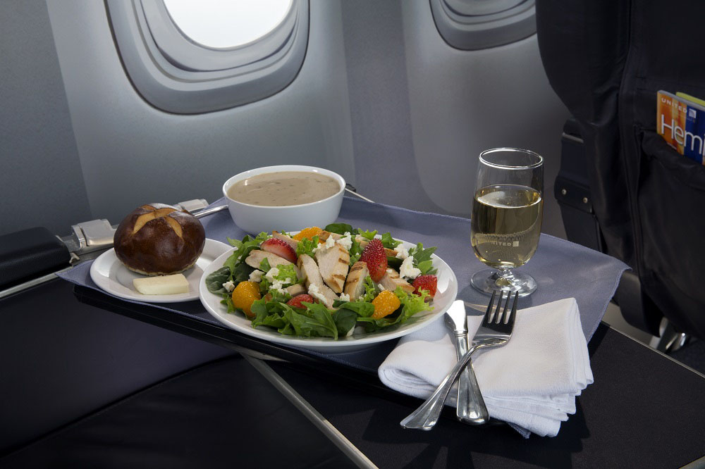 United Airlines Strawberry Fields Salad