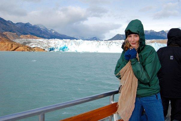 Elizabeth Kester with glacier