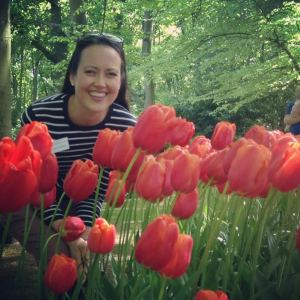 Kate with Tulips
