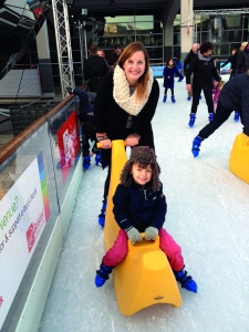 Gwen and son skating