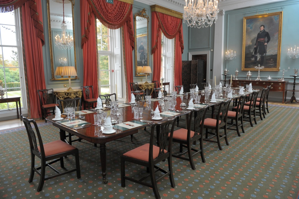 State Dining Room at Hillsborough Castle. Photo by Aaron McCracken/Harrisons, courtesy Historic Royal Palaces